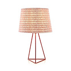 Ben de Lisi Home - Red tribal print lamp