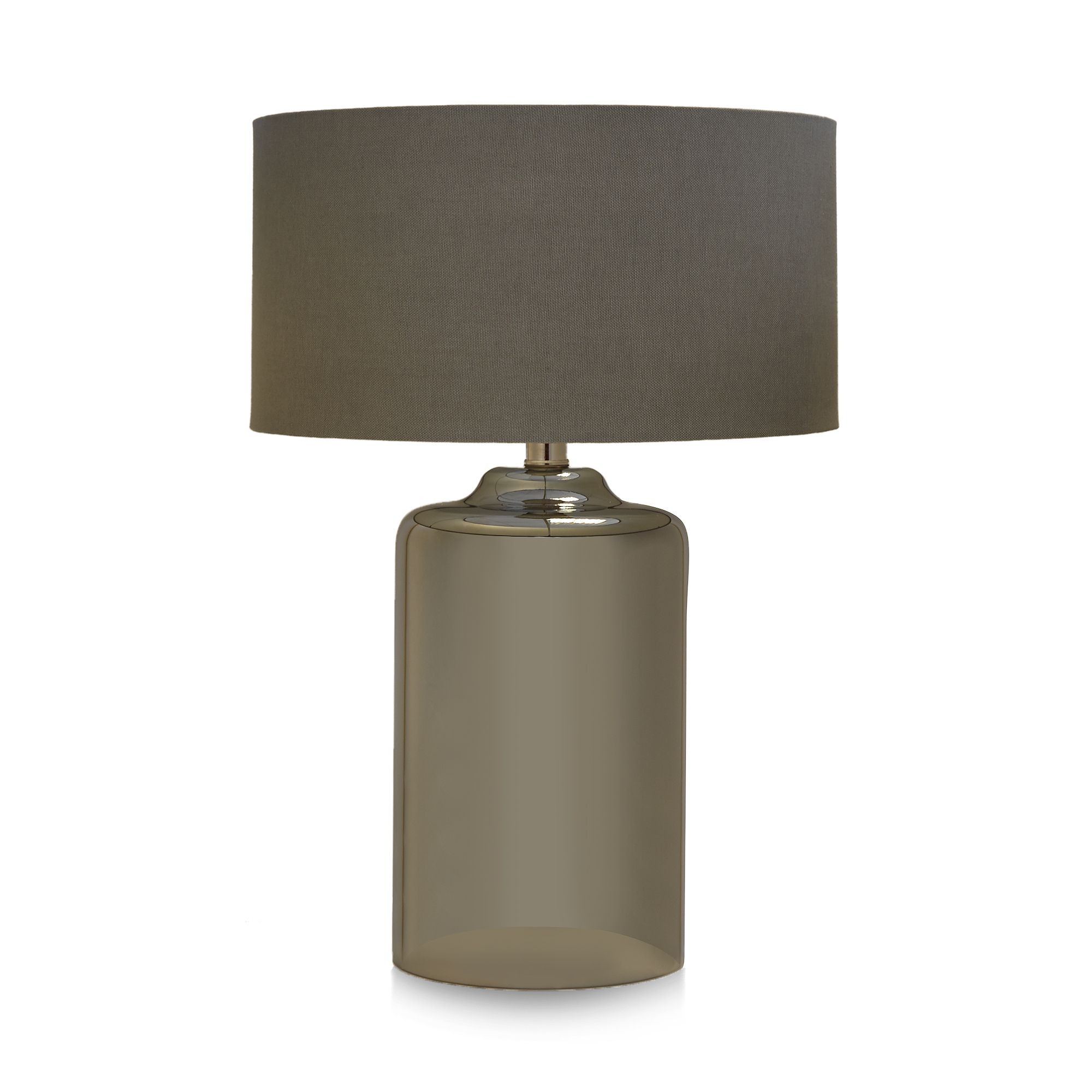 Home Collection Grey Glass Table Lamp From Debenhams