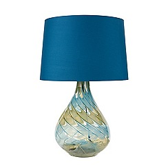 Butterfly Home by Matthew Williamson - Blue glass art table lamp