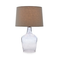 Home Collection - Grey smoked glass table lamp