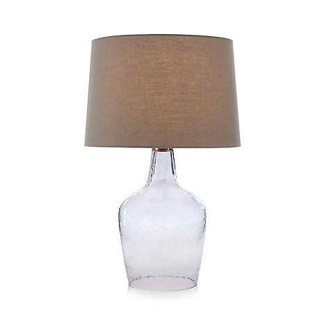 Home collection grey smoked glass table lamp