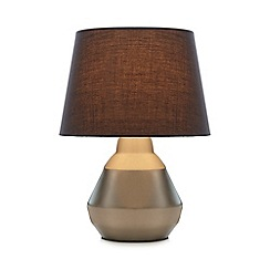 Home Collection - Silver satin table lamp