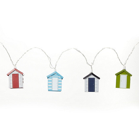 Debenhams - Set of ten metal beach hut string lights