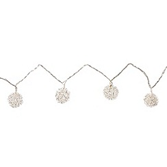 Debenhams - Set of twenty decorative metal string lights
