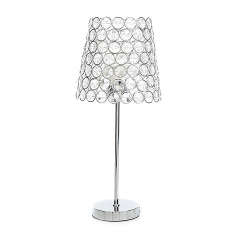 Star by Julien Macdonald - Silver crystal beaded lamp