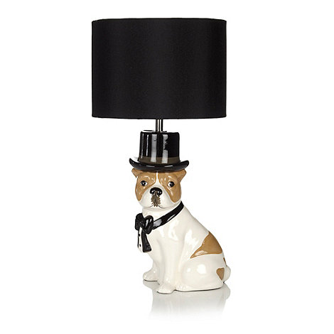 Ben de Lisi Home - Black top hat dog lamp