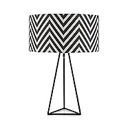 Betty Jackson.Black - Black zig zag patterned lamp