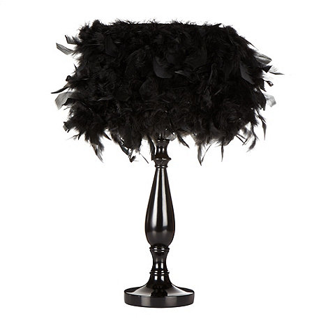 Star by Julien Macdonald - Designer black feather lamp