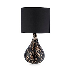 Star by Julien MacDonald - Designer black glass glitter flecked table lamp