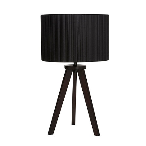 Betty Jackson.Black - Designer wood tripod lamp