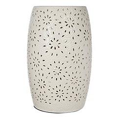 RJR.John Rocha - Designer ceramic cream cutout floral lamp