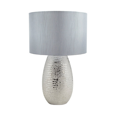 Star by Julien Macdonald - Designer grey metal croc textured lamp