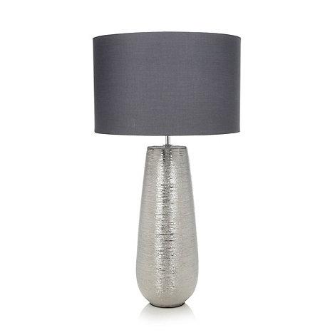 RJR.JOHN ROCHA - Designer metal scratch effect lamp