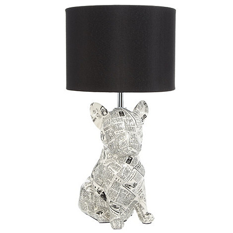 Ben de Lisi Home - White newspaper dog table lamp