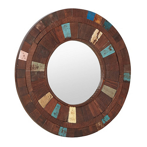 Debenhams - Wooden round panel mirror