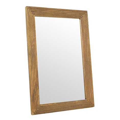RJR.John Rocha - Designer natural stepped wood mirror