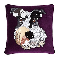 Abigail Ahern/EDITION - Designer purple schnauzer cushion