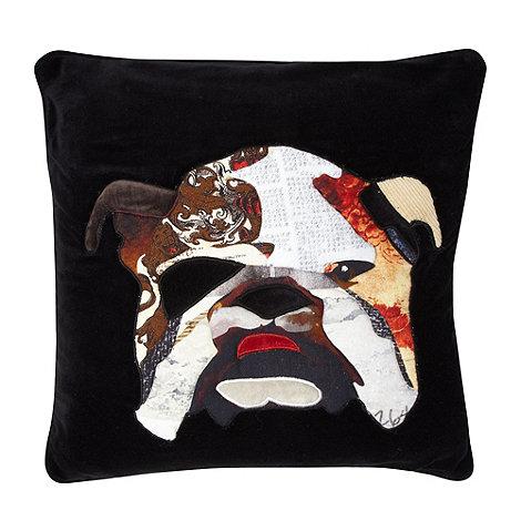 Abigail Ahern/EDITION - Designer black bulldog cushion