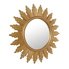 Debenhams - Gold resin sunburst mirror
