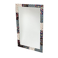 Debenhams - Silver fabric covered mirror