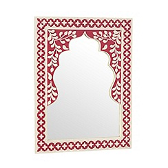 Butterfly Home by Matthew Williamson - Designer red inlay mirror