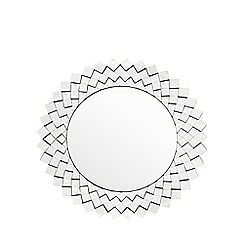 Star by Julien Macdonald - Designer silver faceted round mirror