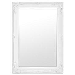 Innova - Large stone white Maissance II mirror