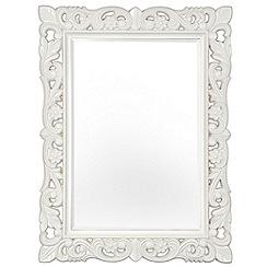 Innova - Stone white Firenze baroque style mirror