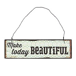 Sass & Belle - Cream 'Make today beautiful' sign