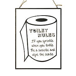 Parlane - 'Toilet rules' sign