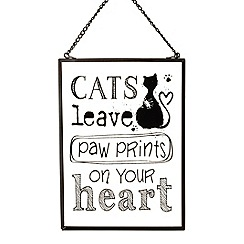 Heaven Sends - 'Cats leave paws' sign