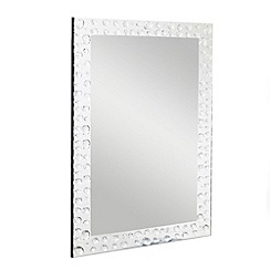 Star by Julien MacDonald - Silver jewel bordered mirror