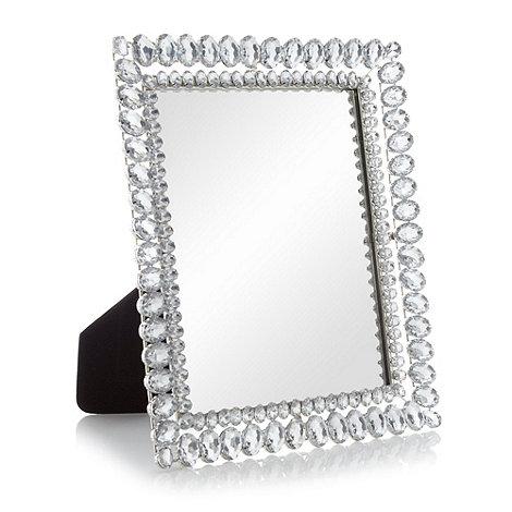 Star by Julien Macdonald - Silver jewel dressing table mirror