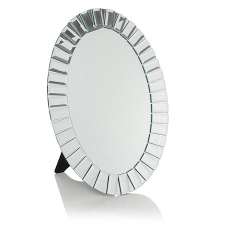 Star by Julien Macdonald - Silver faceted bordered dressing table mirror