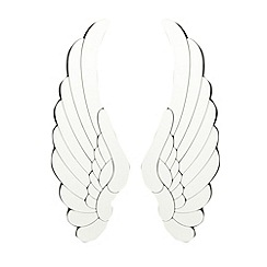 Star by Julien Macdonald - Designer set of two angel wing mirrors