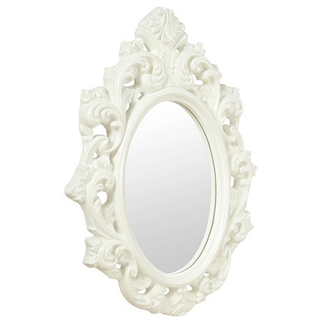 Butterfly Home by Matthew Williamson - White baroque mirror