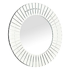 Star by Julien Macdonald - Designer glass tiled bordered round mirror