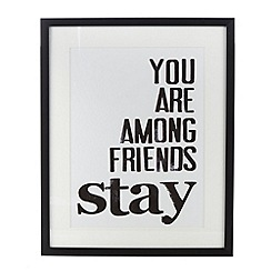 G&C Interiors - Wooden 'You are among friends' wall art
