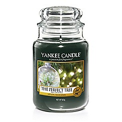Yankee Candle - Large green 'The Perfect Tree' Christmas scented jar candle