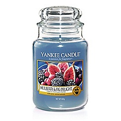 Yankee Candle - Mulberry and fig delight large jar scented candle