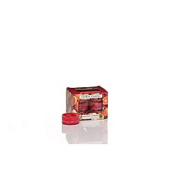 Yankee Candle - Set of 12 red 'Mandarin Cranberry' Christmas scented tea light candles