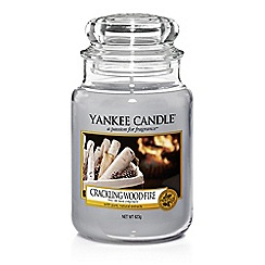 Yankee Candle - Large 'Crackling Wood Fire' Christmas scented jar candle