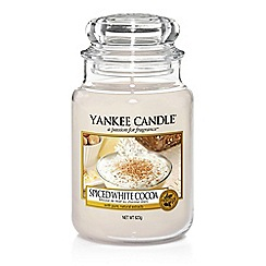 Yankee Candle - Large 'Spiced White Cocoa' Christmas scented jar candle