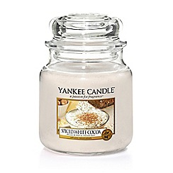 Yankee Candle - Medium 'Spiced White Cocoa' Christmas scented jar candle