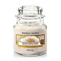 Yankee Candle - Small 'Spiced White Cocoa' Christmas scented jar candle