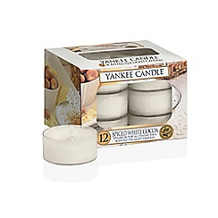 Yankee Candle - Set of 12  'Spiced White Cocoa' Christmas scented tea light candles