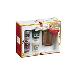 Yankee Candle - Pack of 4 Christmas scented candles and votive holder gift set