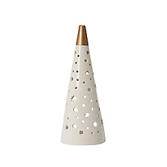 Yankee Candle - Small ceramic 'Magical Christmas' luminary candle holder