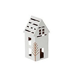 Yankee Candle - Large 'Village' luminary Christmas candle holder