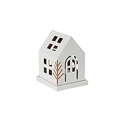 Yankee Candle - Small 'Village' luminary Christmas candle holder